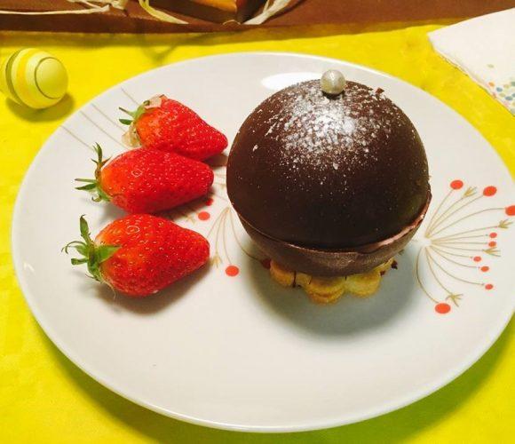 Surprise aux fraises