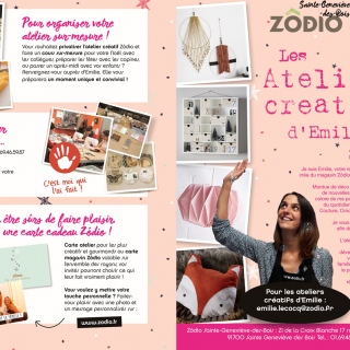 Plannings atelier créa de Décembre 2016 magasin ZODIO SGDB