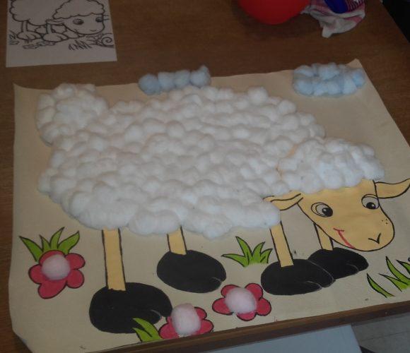 Mouton boule de cotton. ..