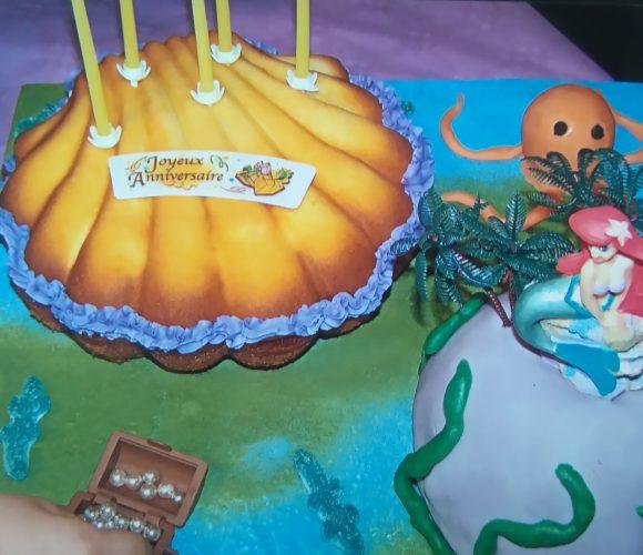 Gâteau Petite Sirène