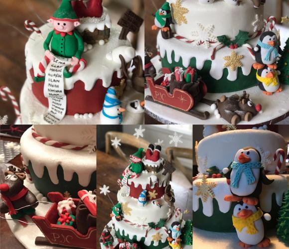 Ma participation au concours Cake Design de Noël