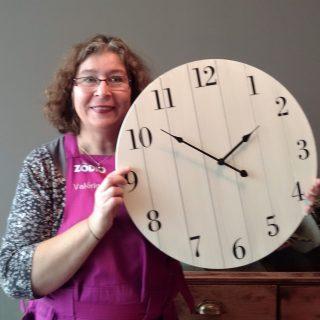 J'ai choisi pour....vous,  l'Horloge palette bois.