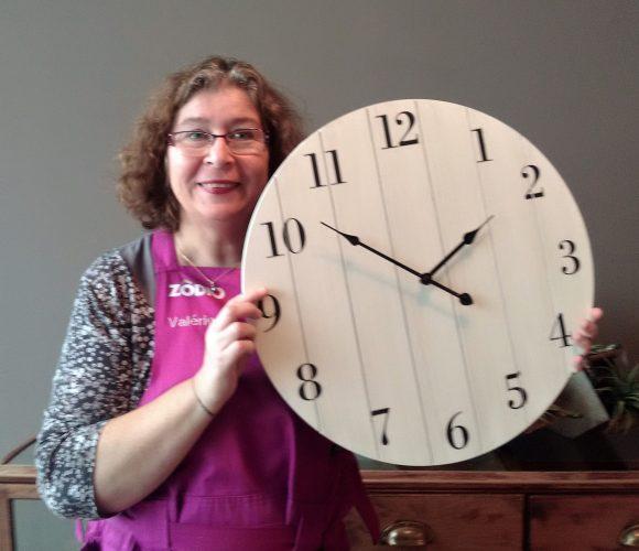 J'ai choisi pour….vous,  l'Horloge palette bois.
