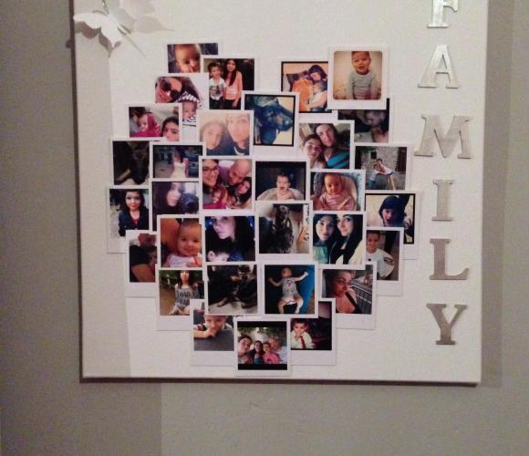 Tableau photos de famille