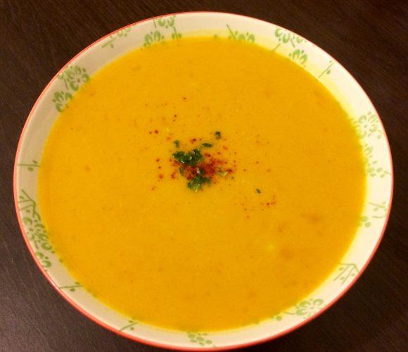 Soupe potiron lait de coco curry