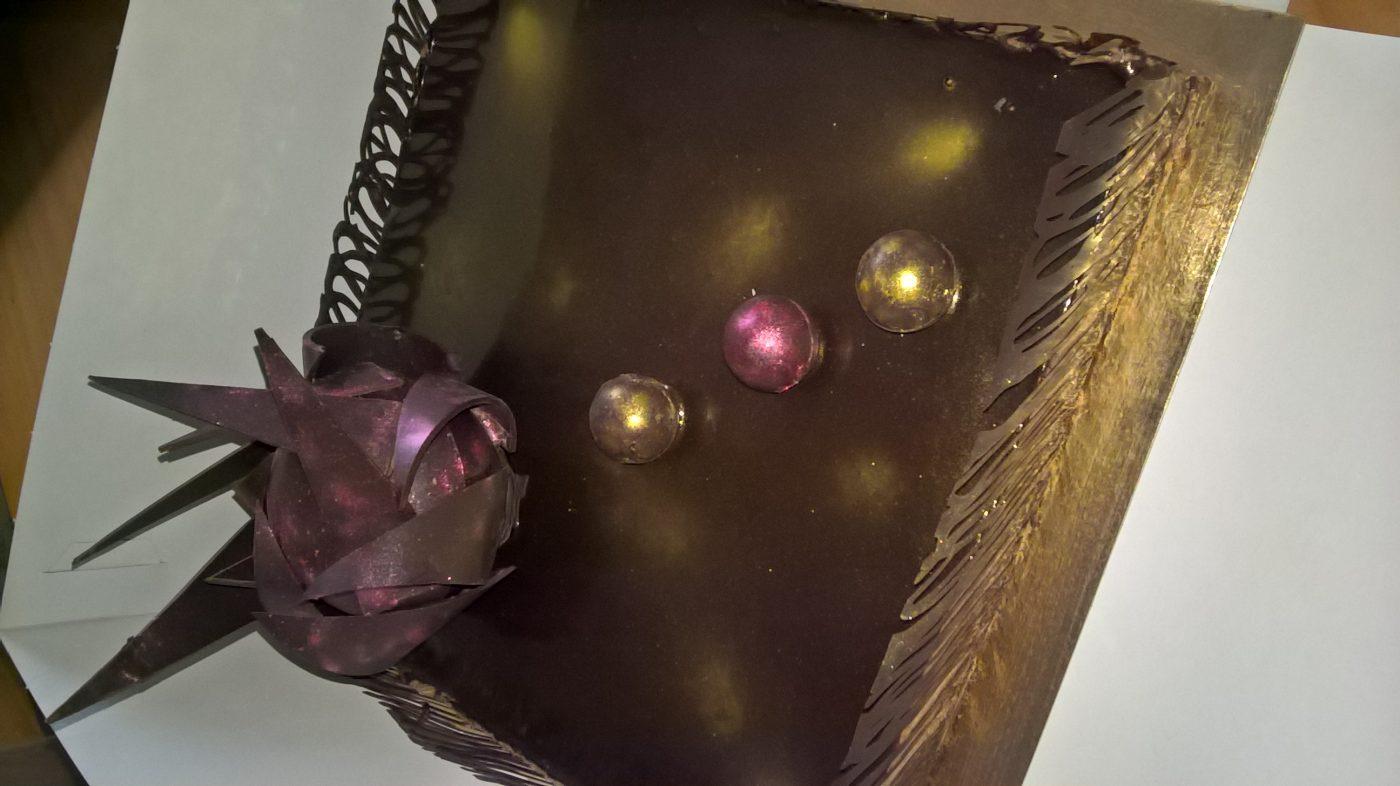 Royal au chocolat et son décor tout chocolat