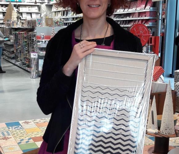 J'ai choisi pour Noël ce pêle-mêle très graphique pour mettre mes Pola !