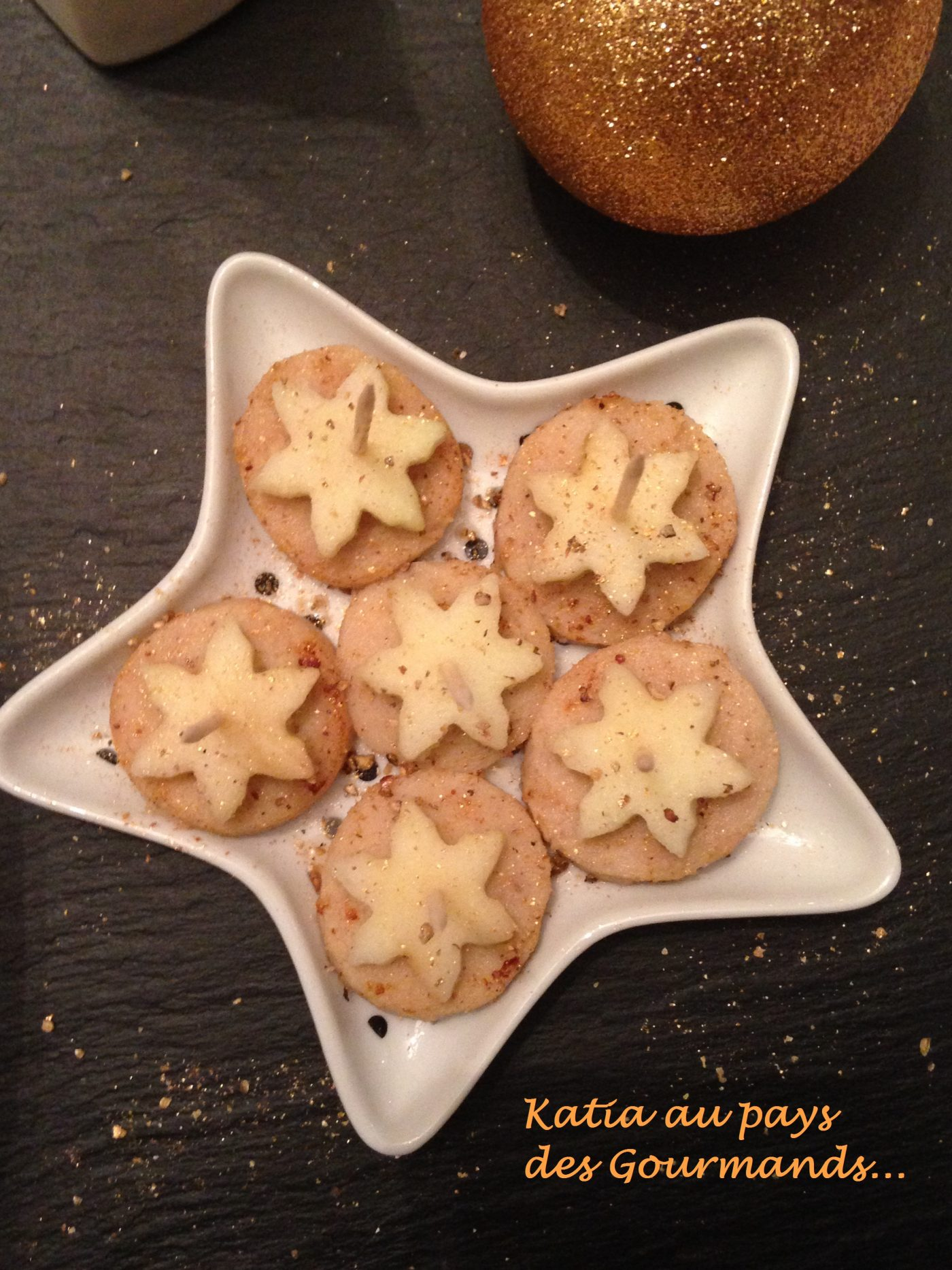 Bouchées apéritives : boudin blanc de Rethel aux pommes