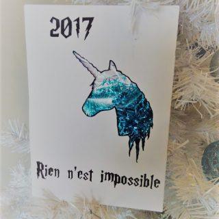 Carte de voeux pour 2017, licorne