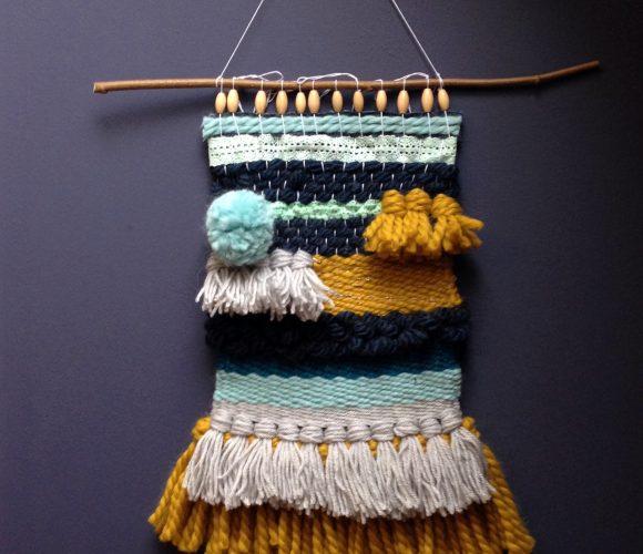J'ai testé pour vous l'atelier tissage (combo jaune et bleu)