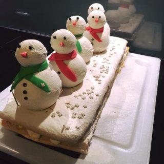 Bûche bonhomme de neige
