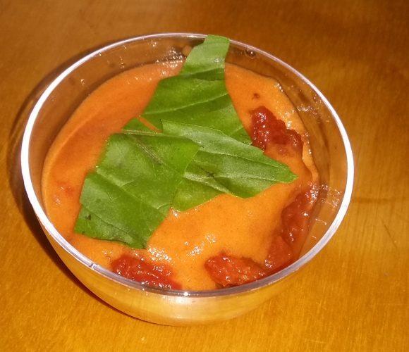Verrine tomate chorizo
