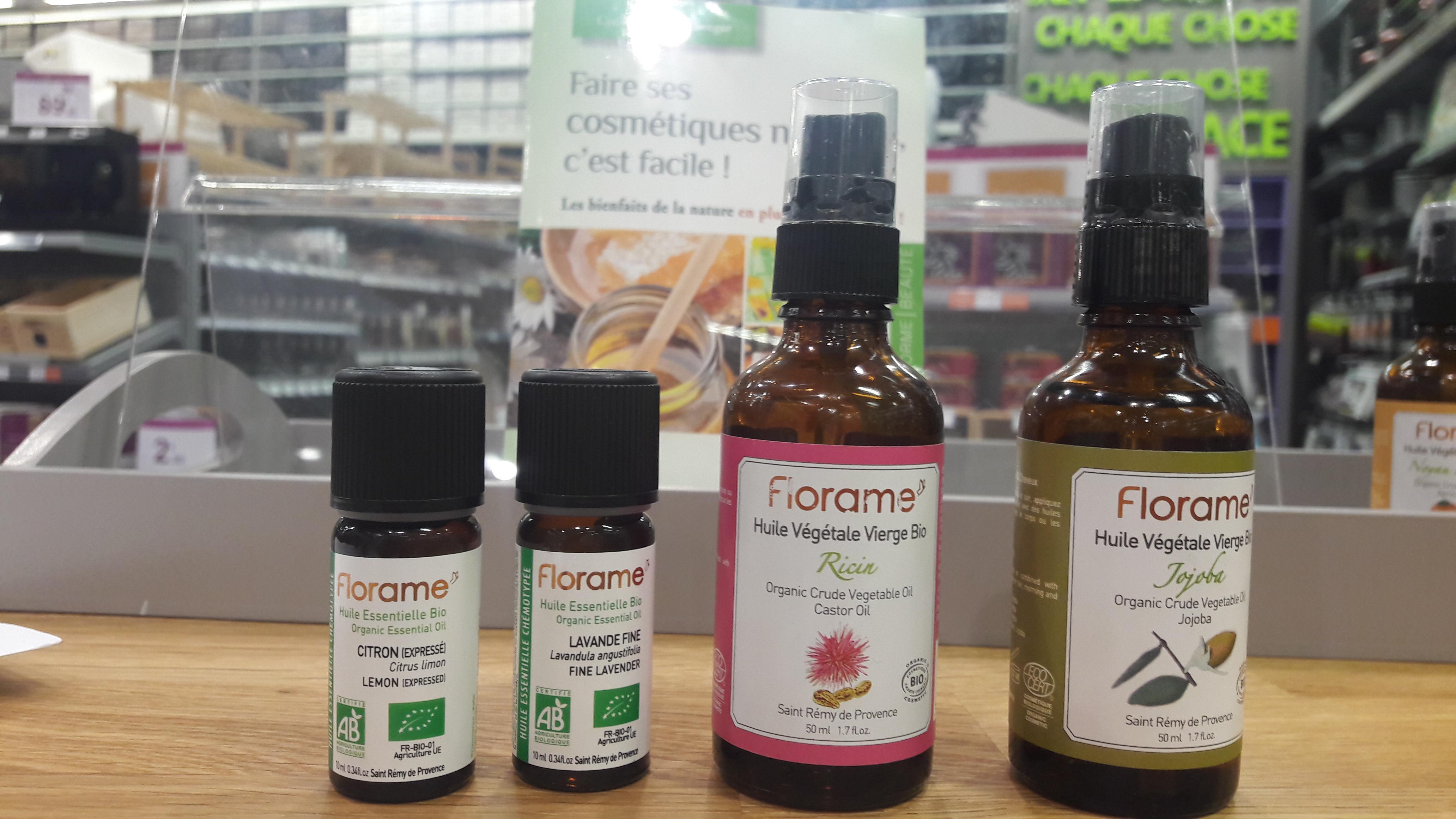J'ai testé pour vous huiles végétales d'Amande douce et Ricin de chez Florame