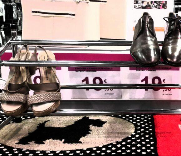 Étagère chaussures chrome Zeller extensible et superposable !