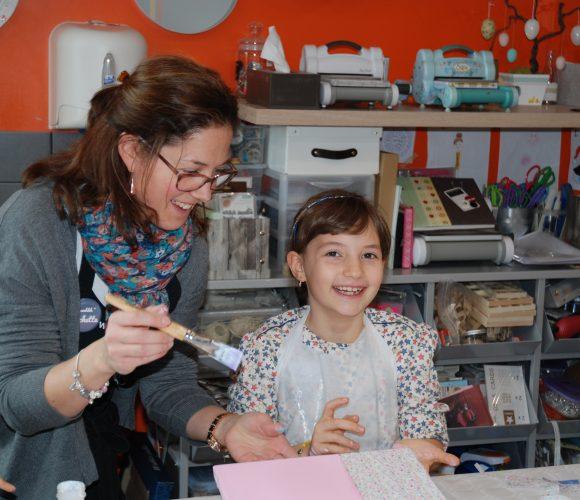 8 ans Lucie avec Delphine