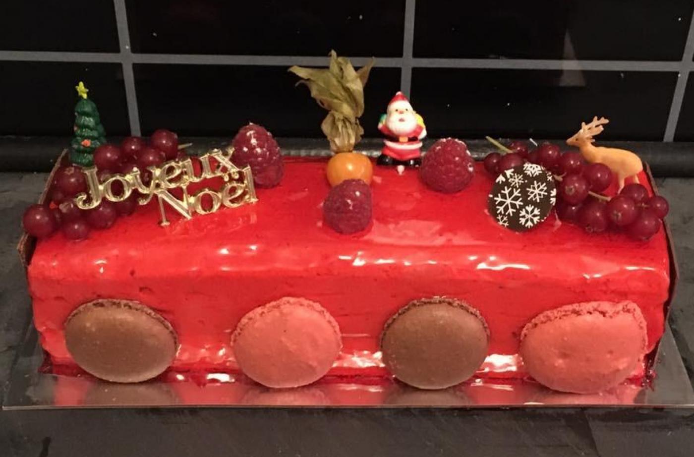 Ma bûche de Noël bavarois framboise