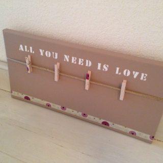 "Création d'un Pêle-Mêle ""All you need is love"""