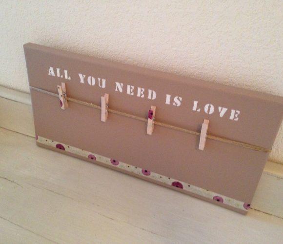 Création d'un Pêle-Mêle «All you need is love»