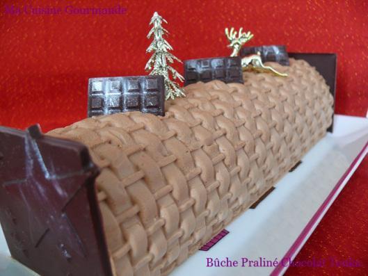 Bûche Praliné Chocolat Tonka
