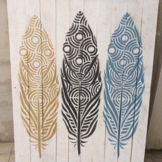 Panneau décoratif plumes !!