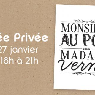 Programme de la prochaine soirée privée !! Vendredi 27 janvier