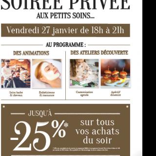 Soirée Privée aux Petis Soins..... vendredi 27 janvier 2017 de 18h à 21h