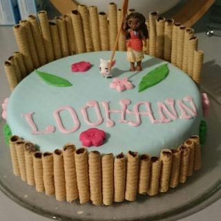Cake Design Vaiana pour l'anniversaire de ma fille.