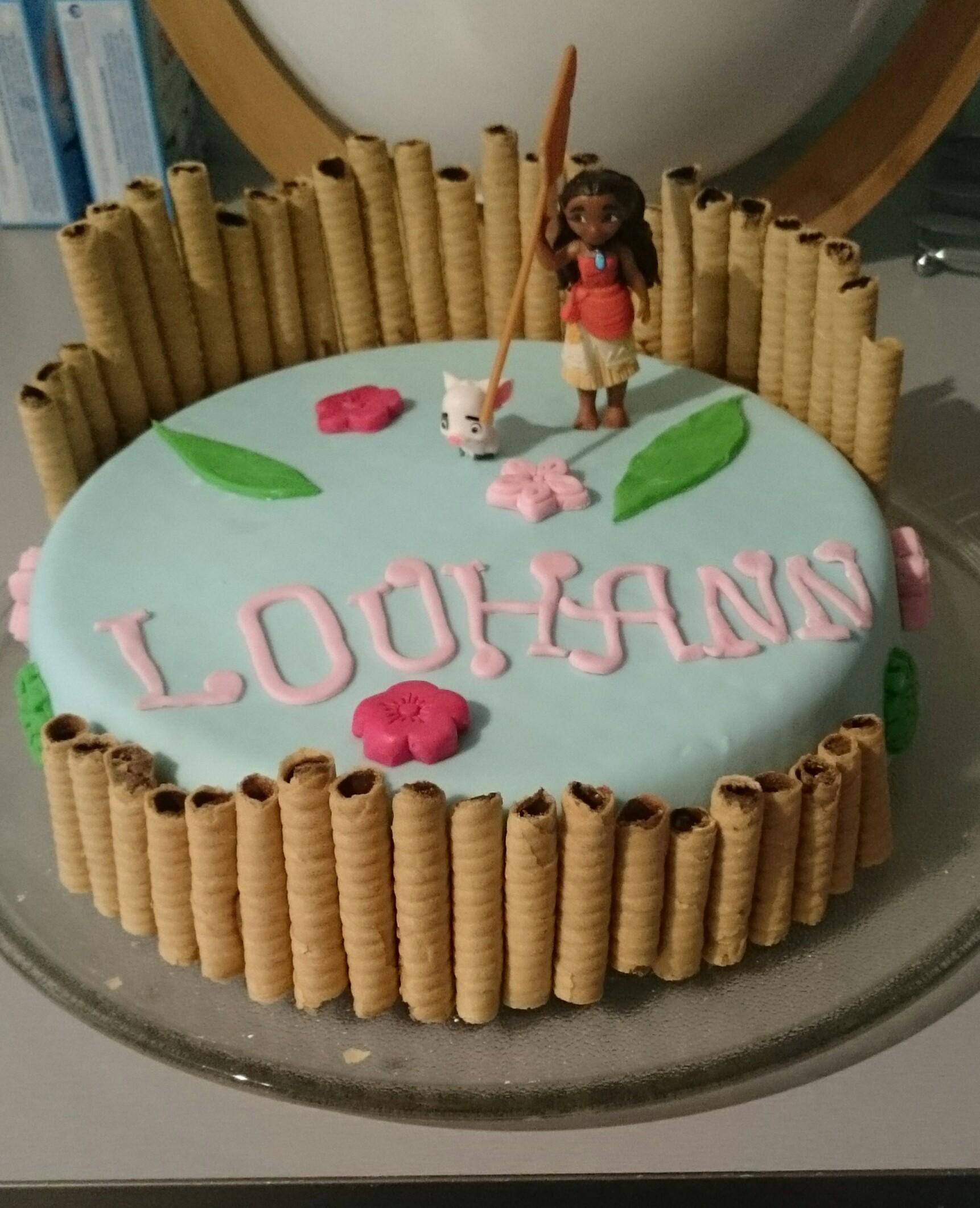 cake design vaiana pour l 39 anniversaire de ma fille blog z dio. Black Bedroom Furniture Sets. Home Design Ideas