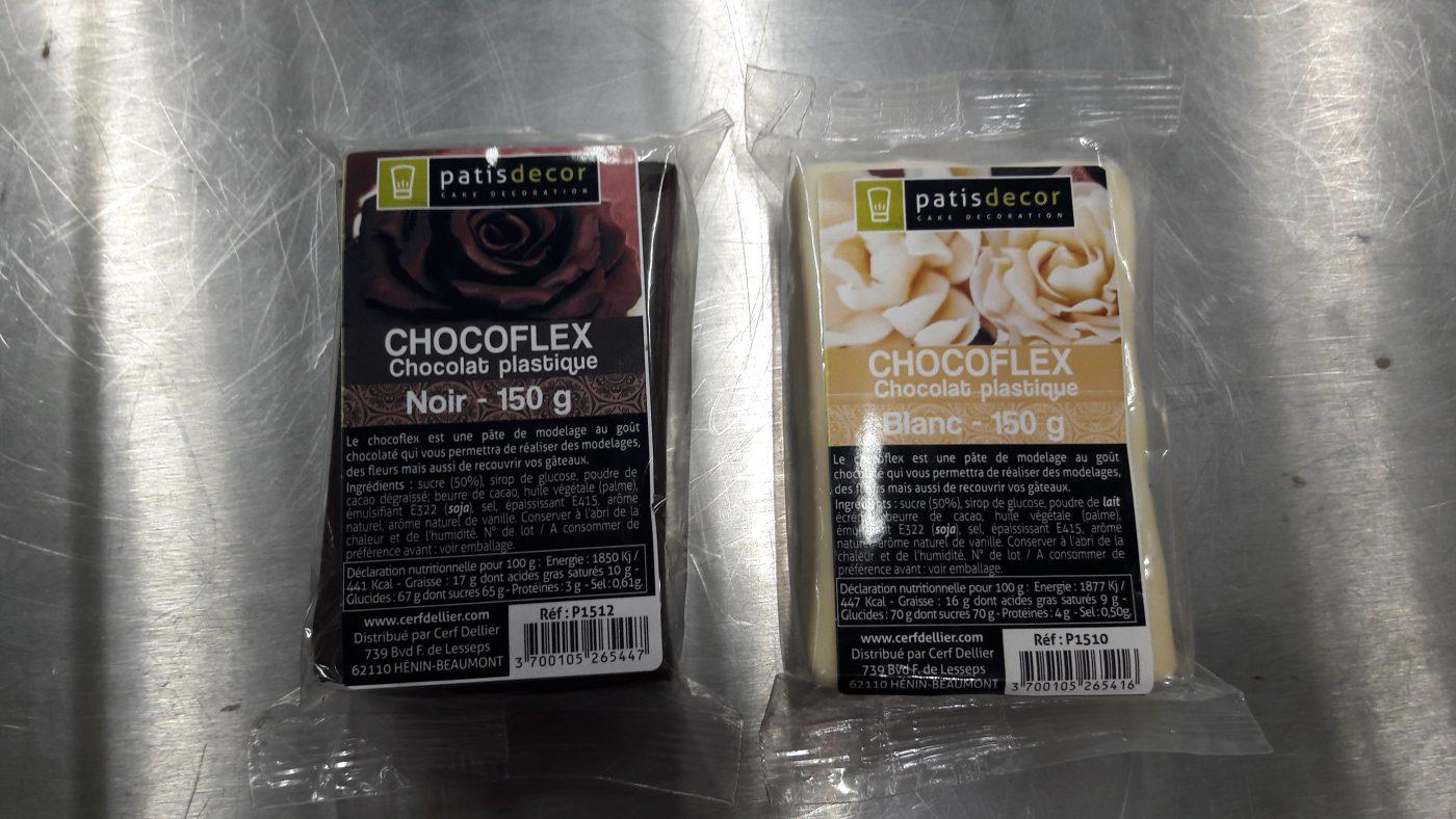 J'ai testé pour vous lE CHOCOLAT PLASTIQUE NOIR CHOCOFLEX de chez PATISDECOR