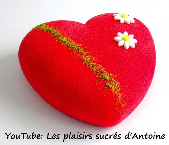 Coeur de Saint-Valentin Framboise-Pistache avec les produits «Trésors de Chefs»