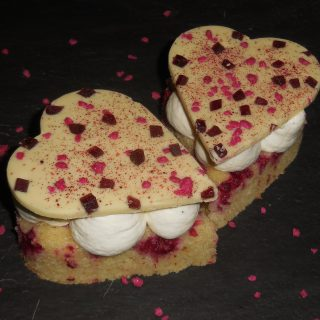 Cœurs rose framboise