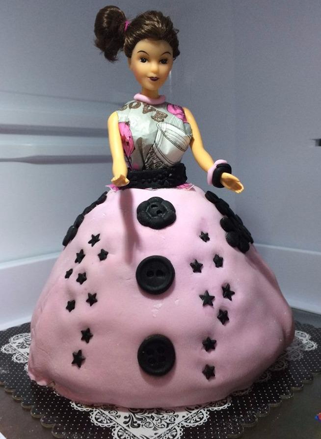 Gâteau poupée 1er essai