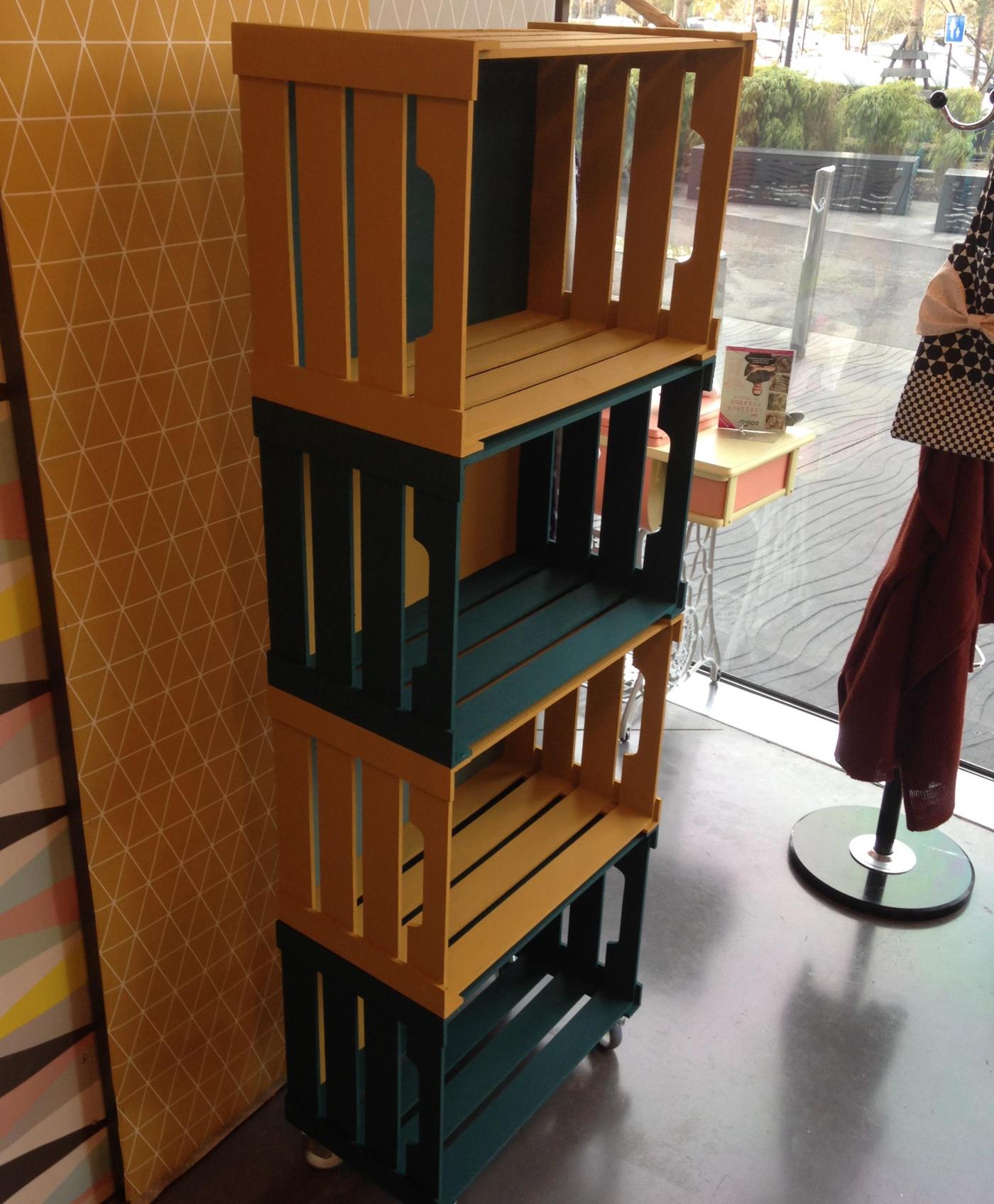 j 39 ai test pour vous l 39 atelier d co tag res 4 caisses blog z dio. Black Bedroom Furniture Sets. Home Design Ideas