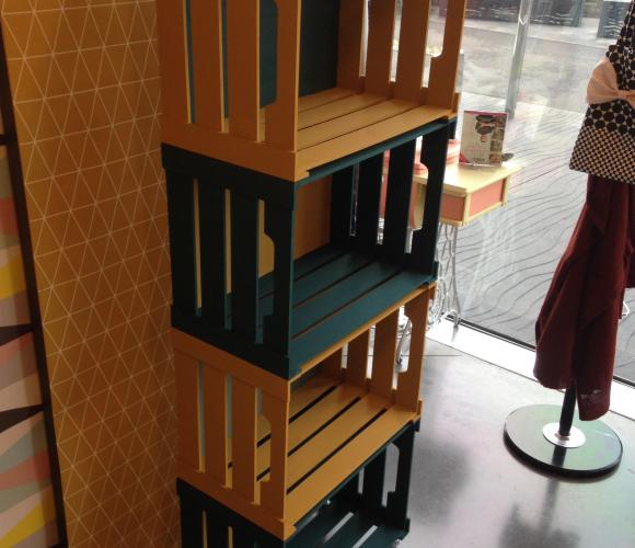 J'ai testé pour vous l'atelier déco étagères 4 caisses