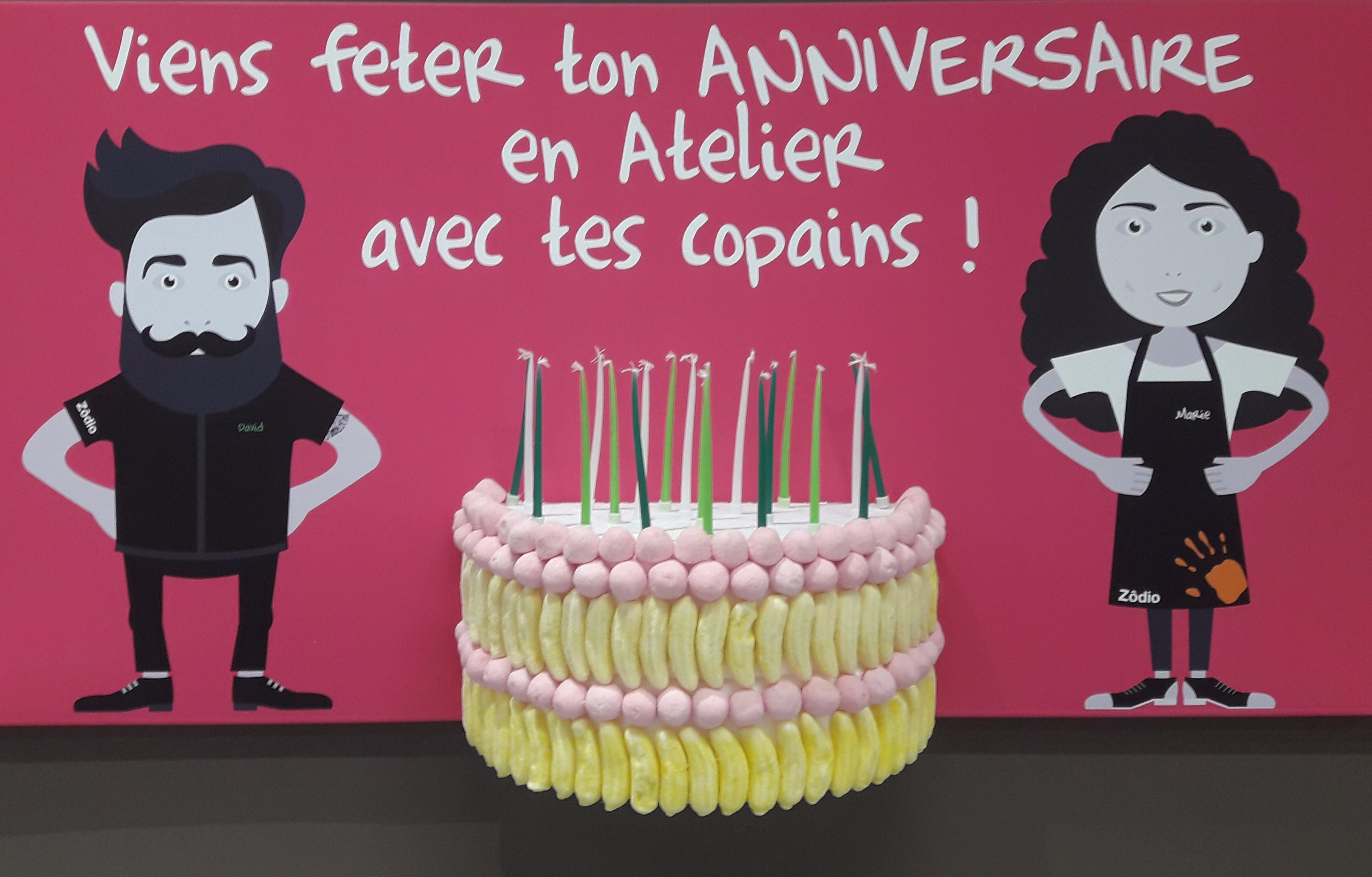 A la recherche d'une idée originale pour ton anniversaire !! Viens le fêter chez Zôdio Chambray-Les-Tours !!