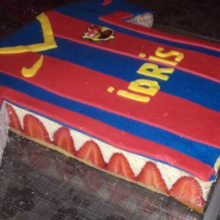 Fraisier du Barça pour les 8 ans de mon fils !!!