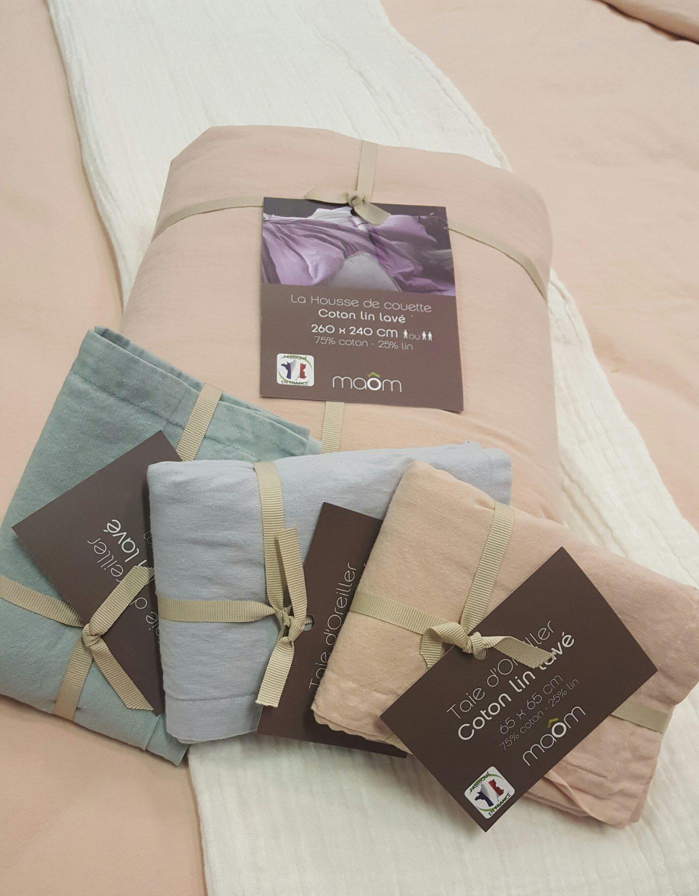 j 39 ai choisi pour vous la parure de lit lin coton lav nude blog z dio. Black Bedroom Furniture Sets. Home Design Ideas