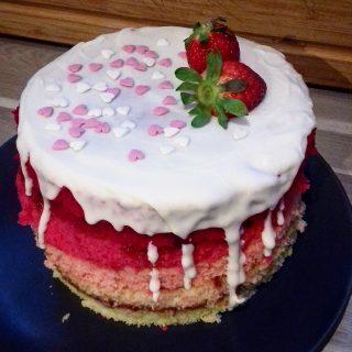 Pink ombre cake, ou gâteau rose dégradé