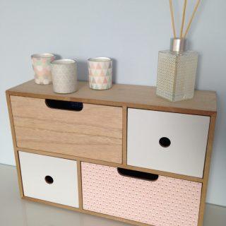 Customisation d'une boîte à tiroirs