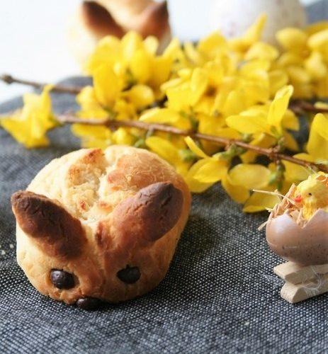 Petits lapins de Pâques briochés, Bio, sans gluten, sans oeufs