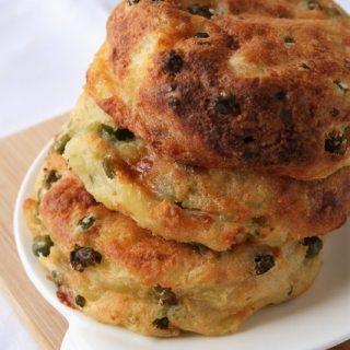 Galettes de pommes de terre, petits pois, fromage, Bio, sans gluten sans oeufs.....