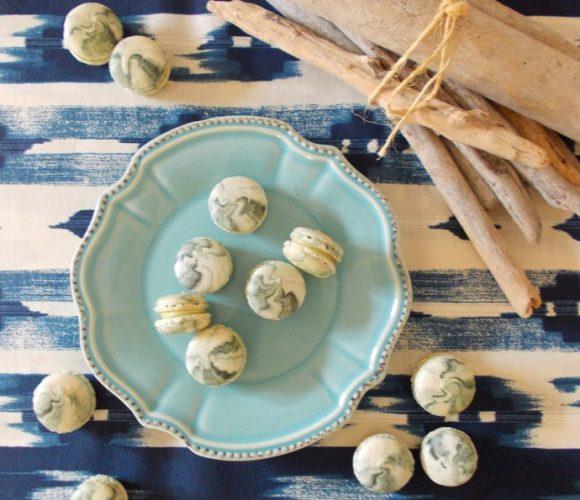 Macarons au chocolat blanc et poivre de Sarawak