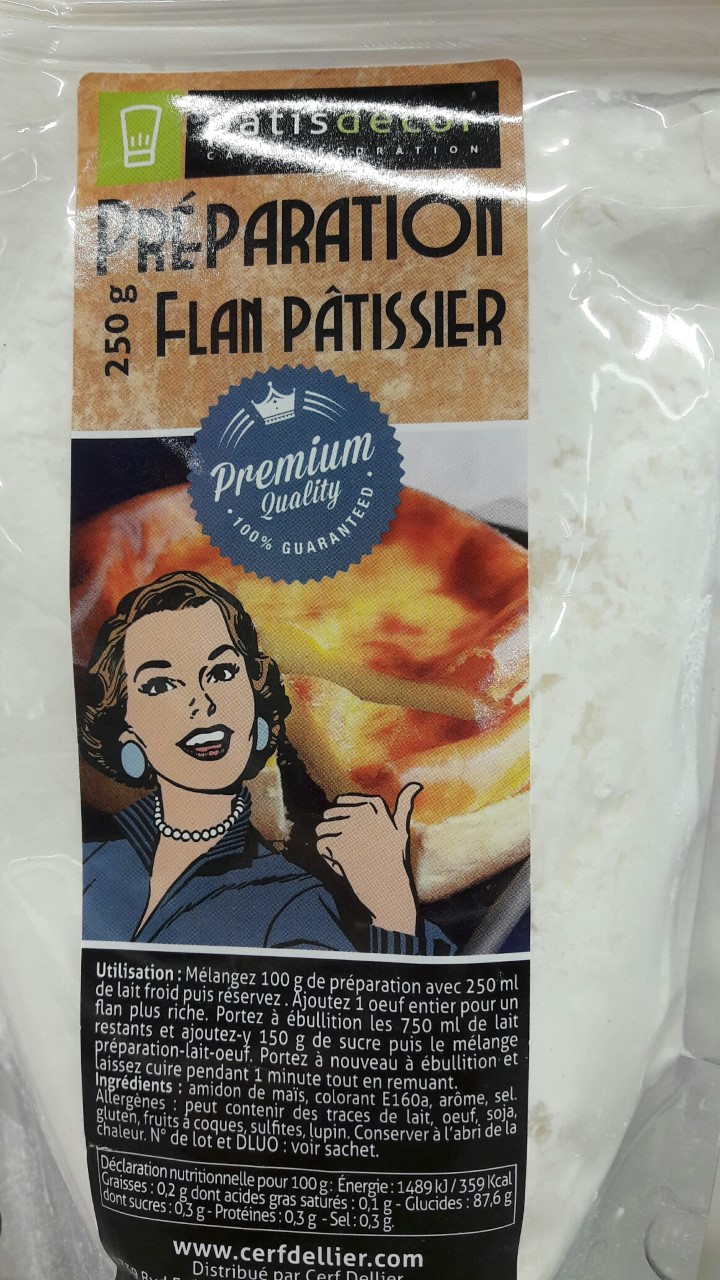 j'ai testé pour vous la préparation pour flan Patissdecor