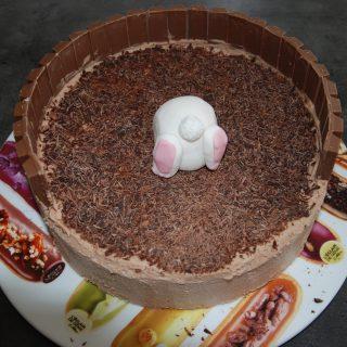 Gâteau de pâques au Nutella et kit kat