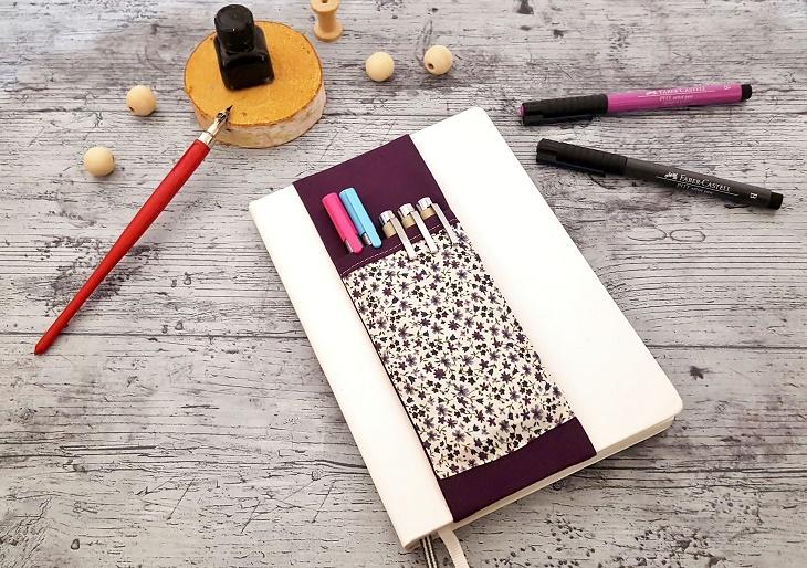 Pochette à crayons en tissu