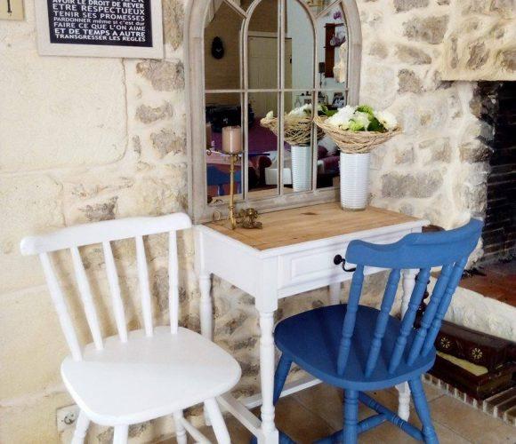 Customisation de chaises en bois
