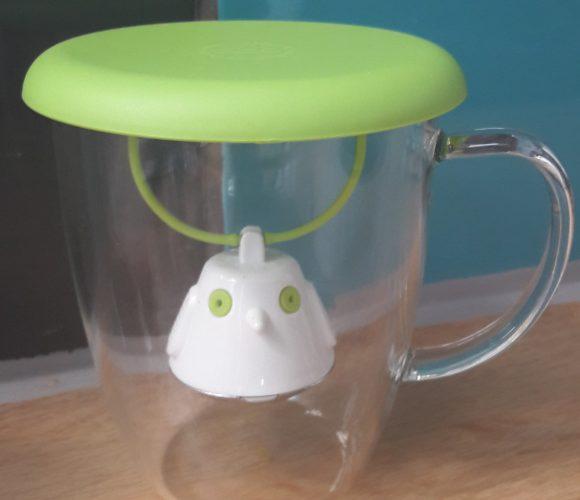 J'ai testé pour vous tasse et couvercle infuseur Birdie Vert de QDO