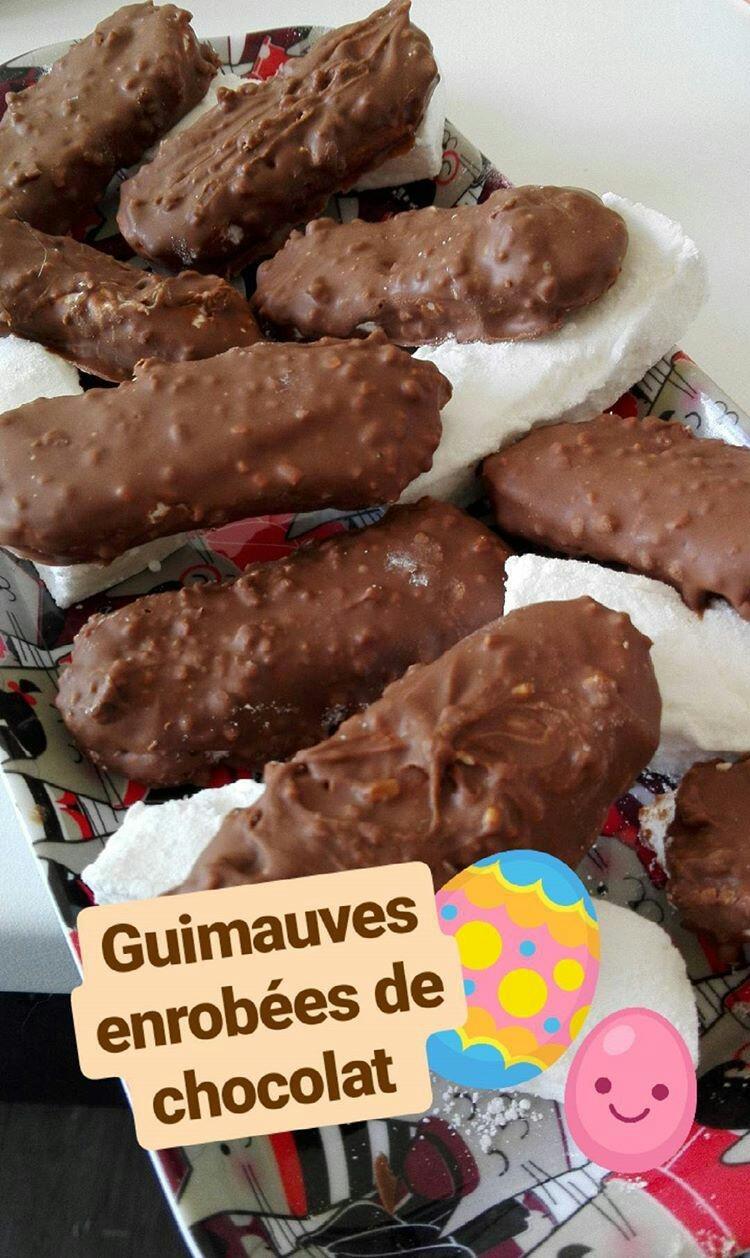 Guimauves au chocolat praliné