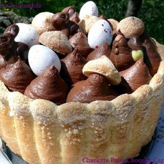 Charlotte de Pâques Poire Chocolat et Cardamome