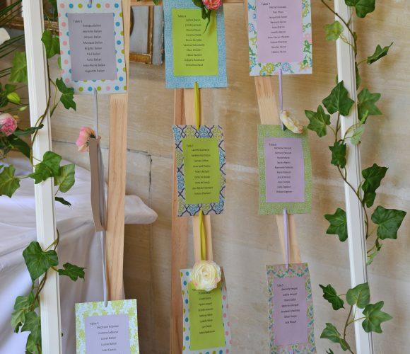 Un plan de table pour un mariage